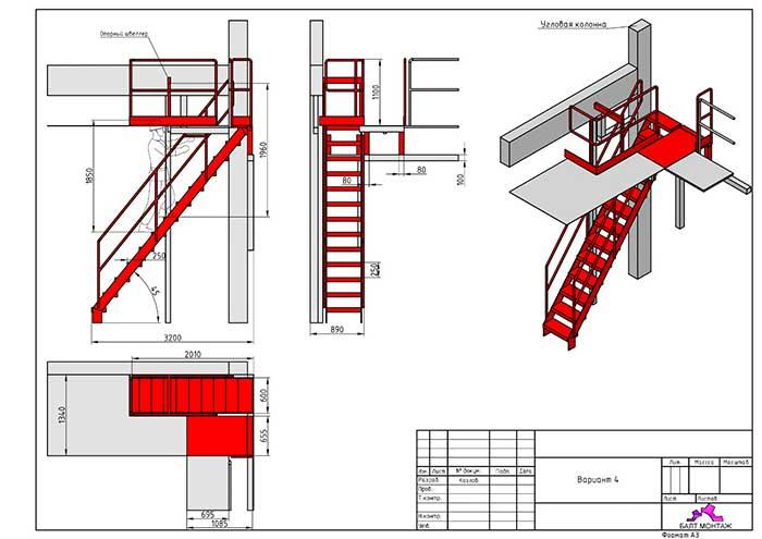 изготовление металлоконструкций в спб компанией Балт Монтж